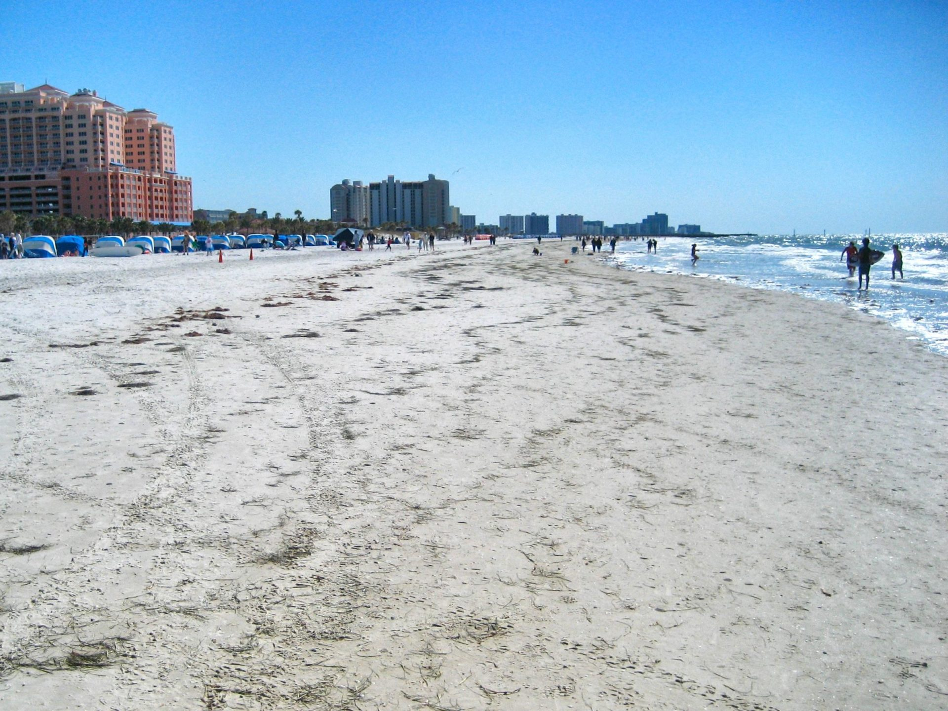 Clearwater Beach: Where the sand's as white as the people who go there.