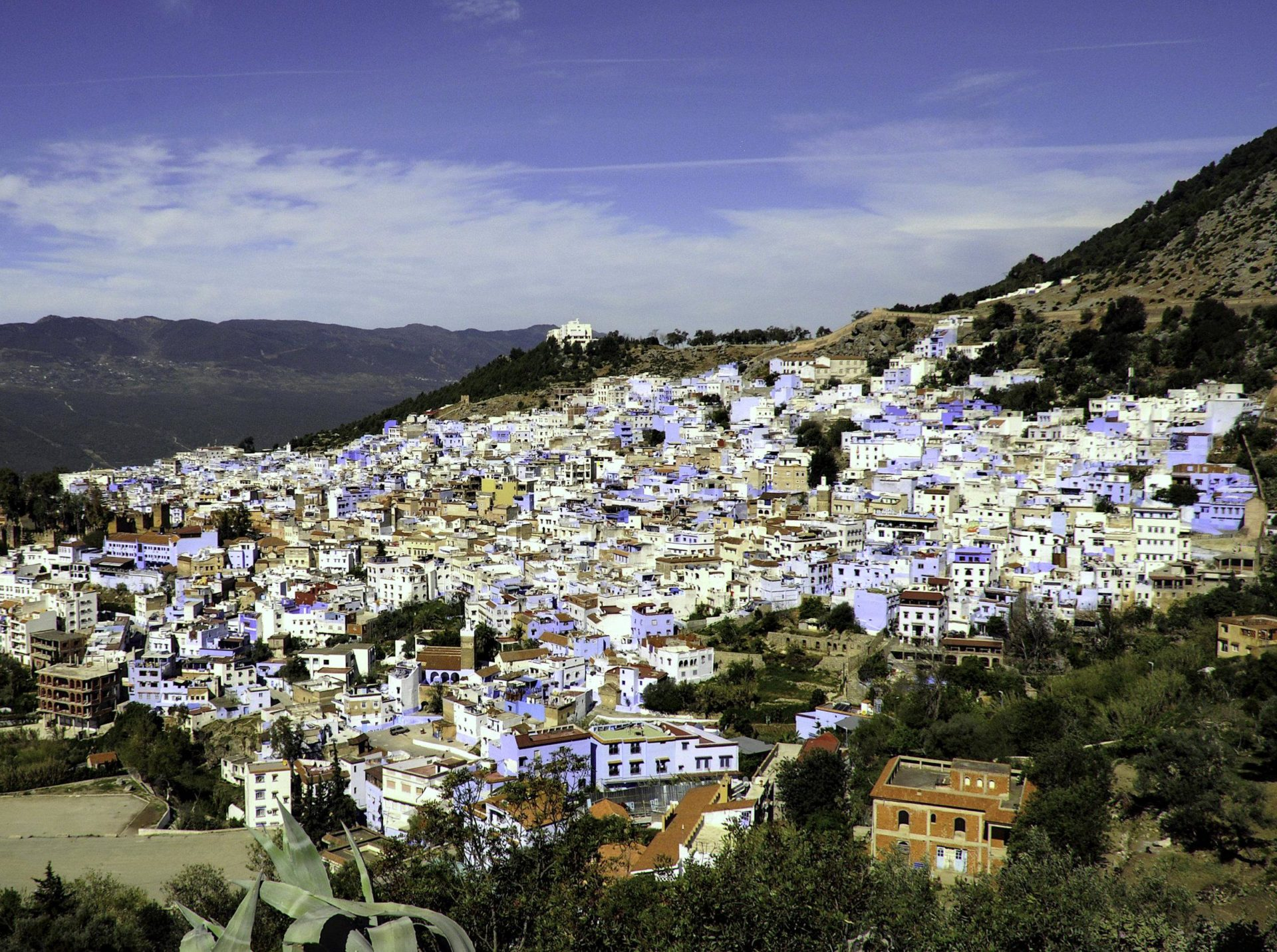 """Chefchaouen Morocco is called the """"Blue City"""" because people have eyes."""